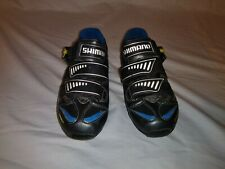 Shimano SH-M221G Carbon Biking Shoes Mens 4.5 Black Blue Cycling Racing 41033