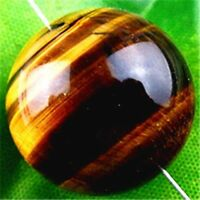 20mm Beautiful Natural Tiger Eye Gem Ball Pendant Bead New for DIY Necklace