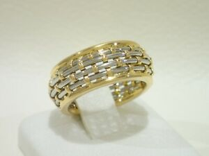 Vintage CARTIER 18k yellow gold / steel ring size 51