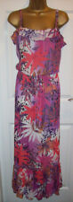 LADIES SAINSBURYS TU MAXI DRESS SIZE 12, Long Floral Tropical print summer Dress