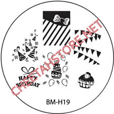 Stamping plaque Bundle Monster BMH19 pour vernis ongles