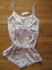 POUPETTE ST BARTH SHORT JUMPSUIT JOLIE, WHITE ALMOND BANANA, NWT $365, XS