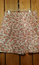 Girl's Size 15/16 Basic Editions Floral Print 100% Cotton Shorts