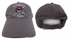 Surrender the Booty Pirate Grey Washed Distressed Drab Embroidered Cap Hat