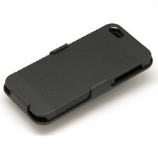 Coque Etui Housse de Protection pour Apple iPhone 5 + Support + Clip Ceinture A
