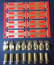 RFExperimenter's PCB panel SET of 8 pcs with a 50 Ohm CPW + SMA connectors