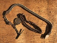 Vest T-Bar Copper/Brass, Copper Bracelet Old Vintage Pocket Watch Fob W/Charm