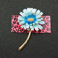Lovely Flower Charm Woman Brooch Pin New Betsey Johnson Fashion Blue Enamel