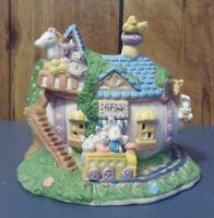 Bunny Towne- Easter Village- Six Piece Porcelain Set- w/ Original Boxes