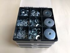 Metric Steel Flat Washers and Repair Washers Zinc Plated Assorted Box 425 pcs