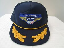 CAF Ghost Squadron Hat CONFEDERATE AIR FORCE Vintage NOS Trucker Hat Snapback