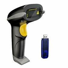 Nadamoo Wireless Barcode Scanner 328 Feet Transmission Distance Usb Black