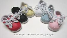 """Doll Shoes, 85mm White w White New Sporty for Chatty, My Twinn 20"""", others"""