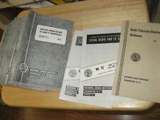 (48)1957-58 NATIONAL RADIO INSTITUTE BOOKLETS TV-Radio Repair Course + Dictionar