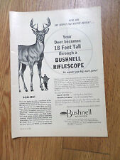 1954 Bushnell Rifle Scopes Ad  Your Deer become 18 Feet Tall through Riflescope