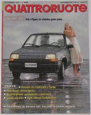 QUATTRORUOTE 9/1987 RENAULT 5 GT TURBO – SUZUKI SJ 413 – R. ROYCE SILVER SPIRIT