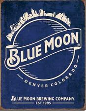 Blue Moon Brewing Company Denver Colorado Est 1995 Tin Metal Bar Beer Sign
