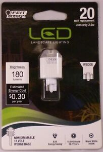 FEIT Electric Landscape LED Light Bulb 12V 2.5W Wedge Base 180 Lumens Lot Of 4