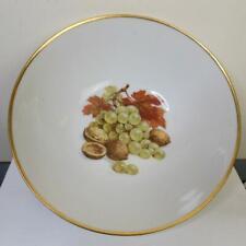 Vintage Large Serving Bowl with Fruit Designs West Germany Bavaria 9.25 Inch