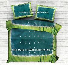 Shibori Indian Duvet Cover Green Tie Dye Doona Cover Set Hippie Comforter Quilt