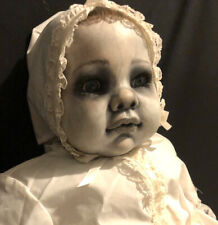 """Memento Mori Ooak Zombie 24"""" Cititoy Baby Doll Christening Gown Repaint g2taylor"""