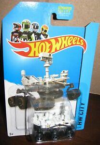 Hot Wheels 2014 HW City #71 MARS ROVER CURIOSITY  USA Robot NASA Black Tires