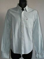 Hollister California mens cotton long sleeve striped shirt size M