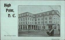 High Point NC The Elwood Hotel c1905 Postcard