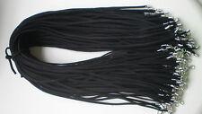 Bulk lot 10 pcs black Suede Leather String 50cm Necklace Cords