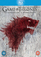 Game Of Thrones: Seasons 1 and 2 (Blu-ray Disc, 2013, 10-Disc Set)