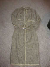 Women's Worth Skirt Suit Size 10 Olive and Cream New with Tags