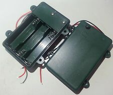 Battery Box Holder Batteries Case for 3 packs AA, 2A  3V Cell Waterproof w/ wire