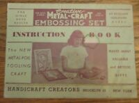 Instruction Book for Creative Metal-Craft Embossing Set 1950's