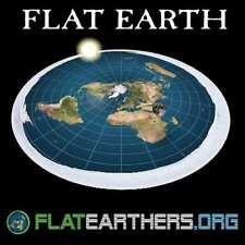 Flat Earth Map Sticker- Flat Earth Bumper Sticker- Flat Earthers & Free Ebook