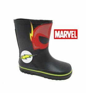 Infants Kids Boys The FLASH Waterproof Rain Wellies Snow Wellingtons Boots Size