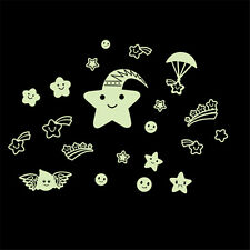 Glow In Dark Smile Star Luminous Light Switch Wall Sticker Decal Home Decoration