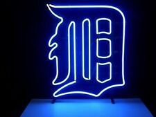 "New Detroit Tigers Logo Neon Light Sign 17""x14"""