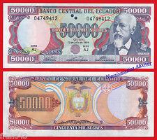 ECUADOR 50000 Sucres 1999 Pick 130 SC /  UNC