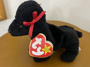 "TY Beanie Baby ""GiGi"", Original, Retired Black Poodle. PE Pellets"
