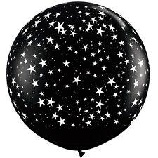 Party Supplies Birthday Hollywood Oscars Small Stars Around Black 90cm Balloon