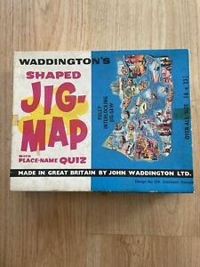 Waddingtons Shaped Jig-Map Design 428 Southern Europe Jigsaw Puzzle - Missing