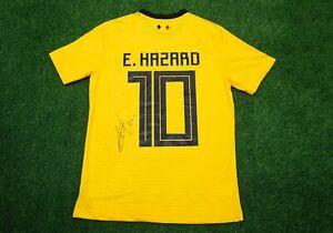 Eden Hazard Signed Belgium Away Shirt Genuine Signature AFTAL COA