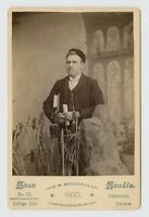 OCCUPATIONAL CABINET CARD PHOTO - SCRIBE / STUDENT w PEN & HAT - VALPARAISO