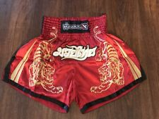 Hayabusa Muay Thai Shorts - Red Medium (32) - Free Shipping