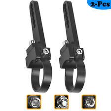 """2x Mounting Bracket 1.75"""" 9-Clamp Tube Bull Roll LED Work Light Bar ATV 4WD UTV"""