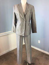 Kasper 6 P Charcoal Gray pant suit Excellent Career Suiting CUTE