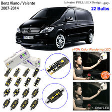 20pcs Deluxe White LED Interior Light Kit For W639 2007-2014 Benz Viano Valente