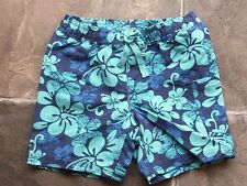 BNWT Baby Boy's Blue Hibiscus Polyester Shorts Size 00