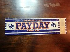 Vintage PAYDAY Candy Bar Wrapper Hollywood Candy Co