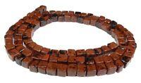 😏 Mahagoni Obsidian 4 mm Würfel Perlen Edelsteinperlen Strang 😉
